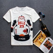 US Style BULLS 23 CHICAGO BULLS Jordan Men Short Sleeve O Neck Shirt Tee T Shirt