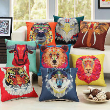 Animal Head Geometric Triangle Pattern Cushion Cover Home Sofa Pillow Case FN162
