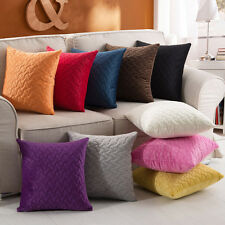 Solid Color Concave Convex Cushion Cover Home Sofa Decoration Pillow Case FN181