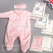 BABY GIRLS SPANISH STYLE DESIGNER ROMPER BABY SETS BOWS PINK IVORY 0-12M BOXED