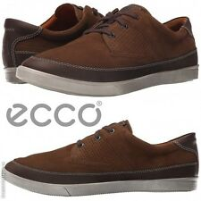 NWB ECCO Mens Collin Nautical Comfort Moccasins Walking Oxfords Sneakers Leather