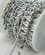 17mm silver Pearl Rhinestone Chain Trims Sewing Crafts Costume Applique LZ156