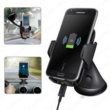 Real Fast Qi Wireless Charger Car Mount Holder for Cell Phone iPhone X 8 S9 Lot