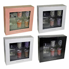 The UK Candle Company 4 Glass Jar Candles & Reed Diffuser - Christmas Gift