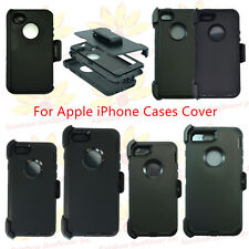 Black for Apple iPhone Case Cover w/ (Belt Clip fits Otterbox Defender series)