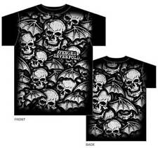 Official T Shirt AVENGED SEVENFOLD- DEATH BATS ALLOVER All Sizes Black Mens New