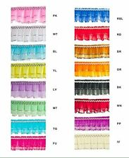 Pleated Lace Silver Trimming Craft Trim Wedding Sweet 16 Projects Pick Color