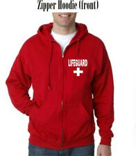 LIFEGUARD ZIPPER HOODIE HOODY S-3XL JACKET ZIP SWEATSHIRT LIFE GUARD  front left
