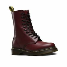 Dr Martens 1490 Cherry Red Smooth 11857600 10 Eyelet Boot Sizes 3-13UK