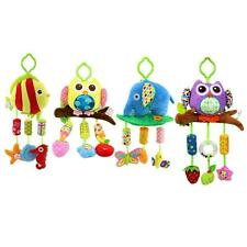 42cm Baby Plush Lathe Hanging Bells Baby Toy for Bed Owl Elephant Fish Style