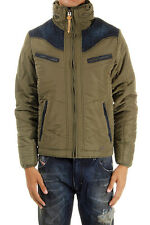 Men Winter Jacket DIESEL WENNO 51F Green Hooded Puff Bomber Jacket Size RRP£25
