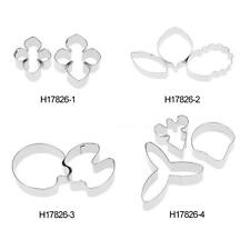Stainless Steel Flower Cutter Mold Sugarcraft Fondant Cake Decorating Tools Z8C3