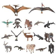 17 Types Detailed Wild Animal Action Figure Toy Kids Bedtime Story Telling Props