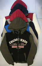 Adults Mens Fur Lined Jacket Warm Zip Up Fashion Hood Hooded Grey Black Blue Red