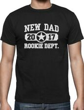 New Dad 2017 Rookie Department Gift for a New Father T-Shirt Father's Day