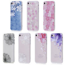 Pretty Floral Flowers Matte Relief Soft TPU Case Cover For Apple iPhone 7 7 Plus