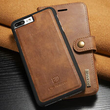 Genuine Leather Removable Wallet Magnetic Flip Card Case Cover For iPhone 6 Plus