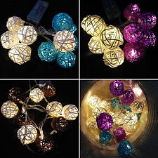 Battery Operated 10/20LED String Fairy Lights Indoor/Outdoor Christmas Xmas Deco