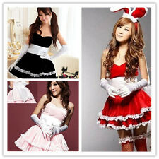 Women's Sexy Lingerie Babydoll Cosplay Dress Set cute Christmas Costume Party