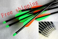 Fiberglass hunting Arrows Longbow/ Recurve Bow /Compound bow Field Tip