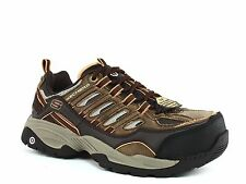 Skechers COMMAND Steel Toe EH  Mens Work & Safety Brown Sneakers Shoes