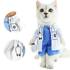 Cat Pet Costume Doctor Uniform Suit Dog Clothes Outfit Doctor Apparel Clothing