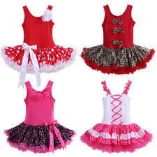 Baby Girl Tutu Dress Polka Dot Tulle Pettiskirt Kids Ballet Dance Party Princess