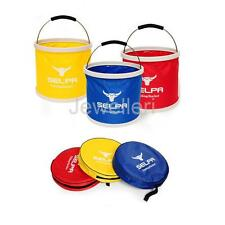 11L Camping BBQ Fishing Collapsible Bucket Outdoor Foldable Water Pail with Bag
