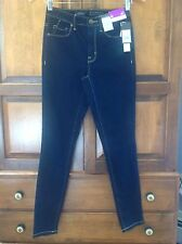 "New! Mossimo Denim jeans, women's 00, 28"" inseam, dark blue indigo, skinny"