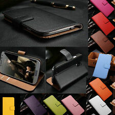 Genuine Real Leather Fashion Wallet Flip Cover Phone Case For Nokia Series