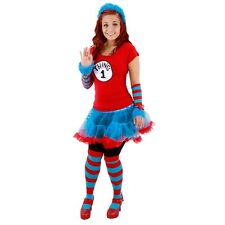Adult Kid's Book Dr. Seuss Cat in the Hat Thing 1 and Thing 2 Tutu Dress Costume