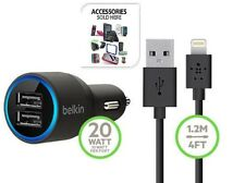 Belkin 2.1A 2-Port Car Charger &Micro-USB Cable For Iphone Samsung, With package