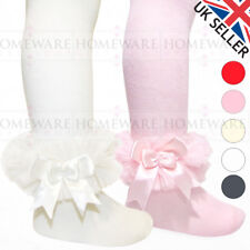 GIRLS BABY TUTU TIGHTS SPANISH STYLE SOFT FRILLY KIDS TIGHTS SATIN BOW 0-3 Y NEW