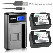 Kastar Battery and LCD Slim USB Charger for Canon BP-808 FS11 iVIS VIXIA HF200