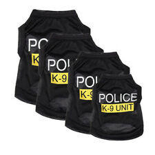 Cool Small Dog Cat Vest Police Pup Shirt Coat Pet Clothes Summer Apparel Costume