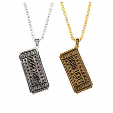 Han Cholo Shadow Series Drink Ticket Pendant Necklace Gold or Silver