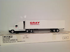 Ertl 1/64 Gray Transportation FLiner FLD120 tractor trailer truck semi #T392