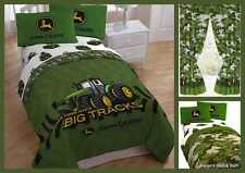 John Deere Green Camo Tractor Boys Twin / Full Comforter Curtains Bedding Set
