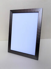 Solid Wood - SILVER CROSS BRUSHED Effect Photo/Picture Frame Various Sizes