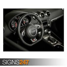 AUDI TT S-LINE INTERIOR (AA609) CAR POSTER - Photo Poster Print Art * All Sizes