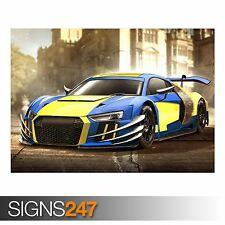 AUDI R8 WOLVERINE (AA706) CAR POSTER - Photo Picture Poster Print Art A0 to A4