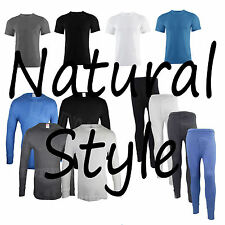 Mens Thermal Long Johns Short Sleeve T-Shirts Winter Warm Underwear / Sleepwear