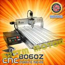 New 4 Axis 1500W USB MACH3 8060 CNC Router Engraver Engraving Milling Machine
