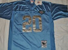 DETROIT LIONS BARRY SANDERS #20 BLUE THROWBACK JERSEY AUTHENTIC SEWN NWT