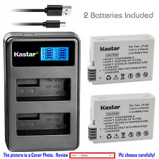 Kastar Battery and LCD Slim USB Dual Charger for Canon LP-E8 EOS 550D Rebel T5i