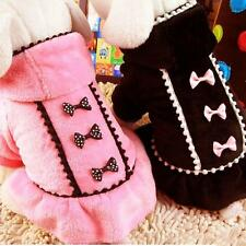 Pets Coat Dogs Winter Jacket Bowknot Hooded Sweater Coat Puppy Party Apparel