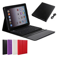 NEW Durable Solid Case Cover Built-in Wireless Bluetooth Keyboard for Apple iPad