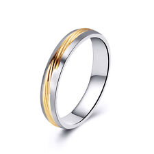 Mens Jewelry Stainless Steel 2 Tone Twill Band Ring Size 8 Unisex Lovers