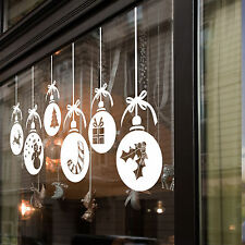Large Christmas Xmas Baubles Shop Window Wall Decorations Decals Window Stickers