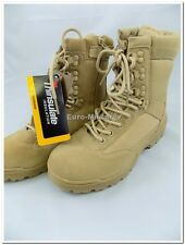 Military Tactical Side Zip Army Police Combat Mens Boots Desert/Khaki Brand New